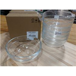 "8"" CLEAR GLASS STACKING SALAD BOWLS-LOT OF 12 (2"