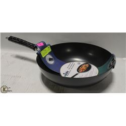 "11"" CARBON STEEL NON-STICK WOK, INDUCTION CAPABLE"