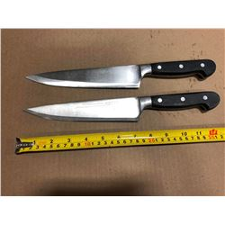 USED SHARPENED KNIVES HIGH QUALITY - LOT OF 2