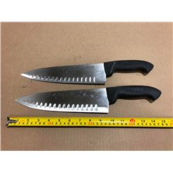 USED SHARPENED KNIVES LRG BLADE - LOT OF 2