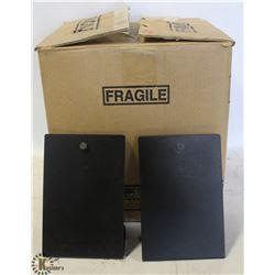 BOX OF 25 METAL TABLE MENU STANDS