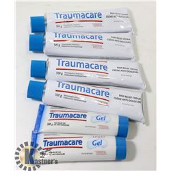 BAG OF TRAUMACARE PAIN RELIEF CREAM