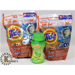 BAG OF TIDE LAUNDRY PODS AND GAIN SCENT BOOSTER