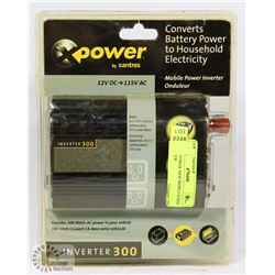 NEW X POWER 300W MOBILE POWER INVERTER