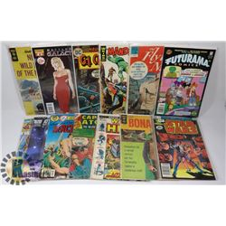 LOT OF 13 COMICS INCL STAR WARS AND BONANZA