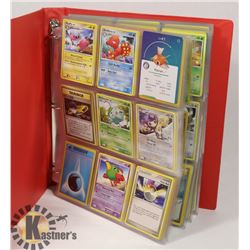 BINDER OF 270 POKÉMON TRADING CARDS.