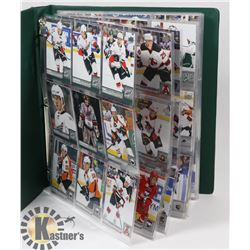 BINDER OF OVER 230 UPPERDECK AHL HOCKEY CARDS