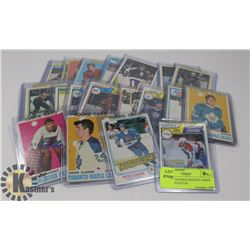 LOT OF 25 ROOKIE HOCKEY CARDS - ASSORTED SETS &