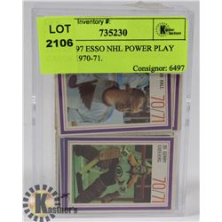 LOT OF 97 ESSO NHL POWER PLAY CARDS 1970-71.