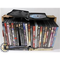 FLAT OF ASSORTED DVD MOVIES
