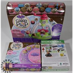 FLAT WITH CAKE POP MAKER SET, REFILL PACK, AND