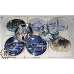 8PC COLLECTION OF WOLF THEME COLLECTOR PLATES