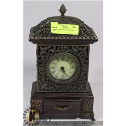 WORKING MANTEL CLOCK WITH DRAWERS