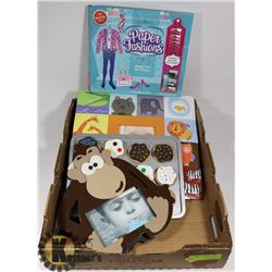 FLAT OF ASSORTED KIDS CRAFTS AND MORE