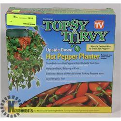 TOPSY TURVY UPSIDEDOWN HOT PEPPER PLANTER
