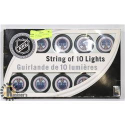 NEW NHL OILERS STRING OF 10 LIGHTS. GENERAL.