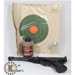 GAMO BB PISTOL WITH TARGETS AND BB'S