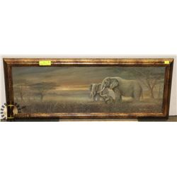 ELEPHANT PICTURE 15 X 40, BEVELLED