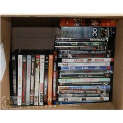 BOX OF 40 DVDS INCL INSURGENT, SAW 1-3 & 5, PLANET