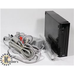 NINTENDO WII CONSOLE WITH POWER CABLE, SENSOR
