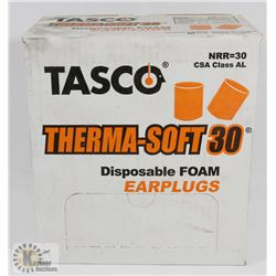 CASE OF TASCO THERMA SOFT 30 DISPOSABLE EAR PLUGS