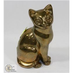 LARGE SOLID BRASS CAT.