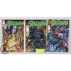 SPAWN FAN EDITION COMICS ISSUES # 1 - 3