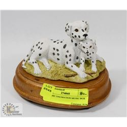 CERAMIC DALMATIAN MUSIC BOX