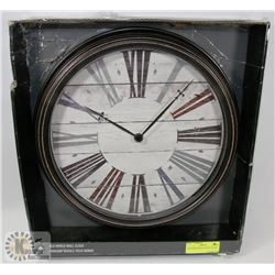 "OLD WORLD WALL CLOCK 15.5""X2""."