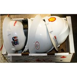 LOT OF 4 SAFETY HARD HATS