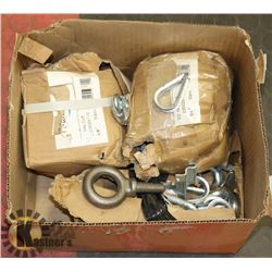 BOX OF METAL CLIPS