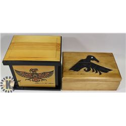 WEST COAST HAIDA ARTIST CLARENCE WELLS WOODEN BOX