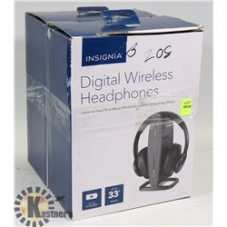 LOT OF HEADPHONES, 2 SETS OF INSIGNIA WIRELESS AND