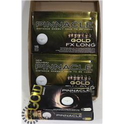 FLAT OF ASSORTED PINNACLE RECLAIMED GOLF BALLS.