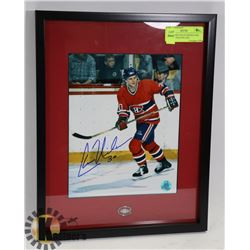 HABS: CHRIS NILAN SIGNED AND FRAMED WITH PIN AND