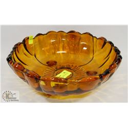 VINTAGE GOLD COLORED FOOTED BOWL CENTER PIECE