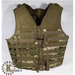 ARMY GREEN CAMO AIRSOFT OR PAINTBALL VEST