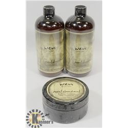 2 BOTTLES OF WEN HAIR CLEANING CONDITIONER & 1