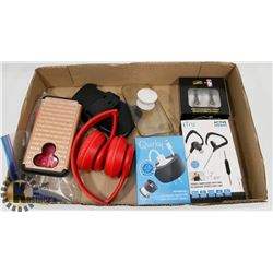 HEAD PHONES, CHARGER, PHONE CASES FOR IPHONE 5, 6&