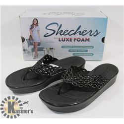 NEW SKETCHERS SANDALS WITH LUXEFOAM, SIZE 10