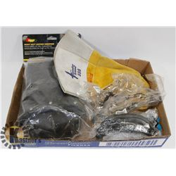 SAFETY GEAR LOT: INCLUDES KNEE PADS, GLASSES,