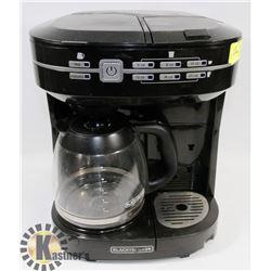BLACK & DECKER COFFEE & K-CUP COMBINATION MACHINE
