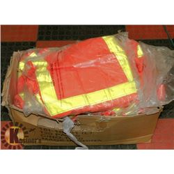 LOT OF 10 XL WATERPROOF SAFETY PULLOVERS