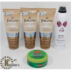 BAG OF ASSORTED HAND AND BODY CREAMS