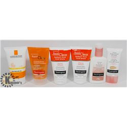 BAG OF ASSORTED NEUTROGENA CREAMS AND CLEANSERS