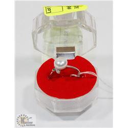 #67-FRESH WATER PEARL WHITE RING