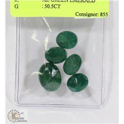 #33-GREEN EMERALD GEMSTONE 50.5CT