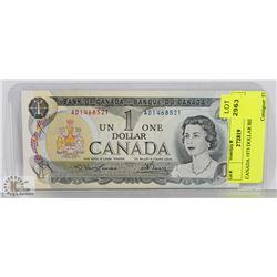 CANADA 1973 DOLLAR BILL