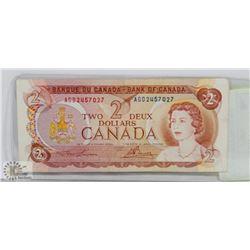 1974 BANK OF CANADA $2 BILL
