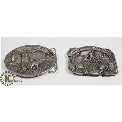 LOT OF TWO 80'S FARMING THEMED BELT BUCKLES